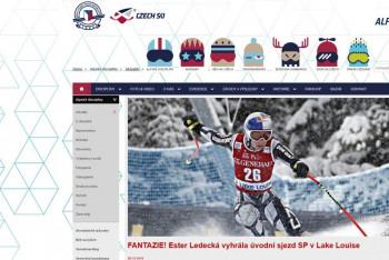 FANTAZIE! Ester Ledecká vyhrála úvodní sjezd SP v Lake Louise se šťastným číslem 26